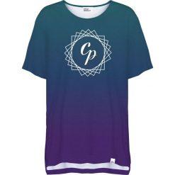Colour Pleasure Koszulka damska CP-033 291 zielono-fioletowa r. uniwersalny. T-shirty damskie Colour Pleasure. Za 76.57 zł.