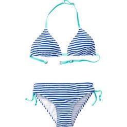 Bikini dziewczęce (2 części) bonprix niebiesko-biały. Bielizna dla dziewczynek marki bonprix. Za 34.99 zł.