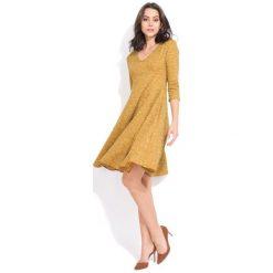 Fille Du Couturier Sukienka Damska Emeraude 36 Żółty. Żółte sukienki damskie Fille Du Couturier, z długim rękawem. Za 229.00 zł.