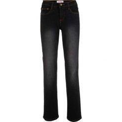 Dżinsy wyszczuplające ze stretchem BOOTCUT bonprix czarny. Jeansy damskie marki bonprix. Za 109.99 zł.