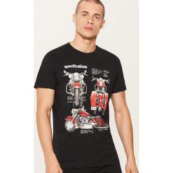 T-shirt z motocyklem - Czarny. Czarne t-shirty męskie House. Za 29.99 zł.