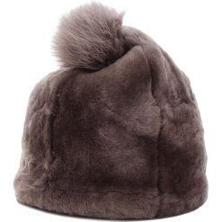 Czapka UGG - W Solid Sheepskin Beanie 17383 Stormy Grey. Szare czapki i kapelusze damskie UGG, z materiału. Za 639.00 zł.