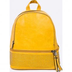 Answear - Plecak. Pomarańczowe plecaki damskie ANSWEAR, z materiału. W wyprzedaży za 89.90 zł.
