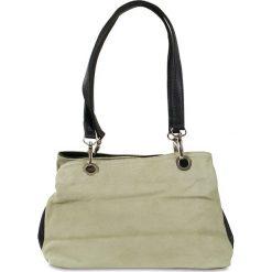 """Skórzana torebka """"Giselle"""" w kolorze beżowym - 30 x 20 x 12 cm. Brązowe torby na ramię damskie Spéciale Maroquinerie. W wyprzedaży za 108.95 zł."""