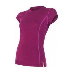 Sensor Koszulka Termoaktywna Merino Wool Active W Lilla M. Czerwone koszulki sportowe damskie Sensor, z materiału, z krótkim rękawem. Za 195.00 zł.