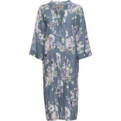 Długi płaszcz koszulowy bonprix dymny niebieski z nadrukiem. Płaszcze damskie marki FOUGANZA. Za 59.99 zł.