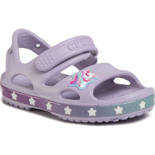 Sandały CROCS Crocsfl Unicorn Charm Sandal G 206366 Lavender