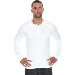 Brubeck Koszulka męska polo Prestige z długim rękawem biała r. M (LS10620). Koszulki sportowe męskie Brubeck, z długim rękawem. Za 215.89 zł.