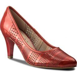 Półbuty CAPRICE - 9-22502-20 Red Patent 505. Czerwone półbuty damskie Caprice, ze skóry ekologicznej. W wyprzedaży za 219.00 zł.