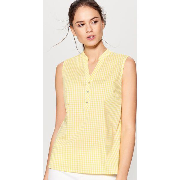 Ogromnie Top w kratkę - Żółty - Bluzki damskie marki Mohito, w kratkę. W RG05