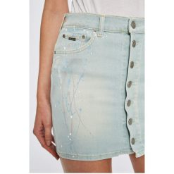 Pepe Jeans - Spódnica Alba Paint. Szare spódnice damskie Pepe Jeans, z bawełny. W wyprzedaży za 239.90 zł.