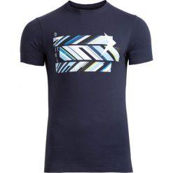 T-shirt męski TSM612 - granatowy - Outhorn. Niebieskie t-shirty męskie Outhorn, na lato, z bawełny. W wyprzedaży za 29.99 zł.