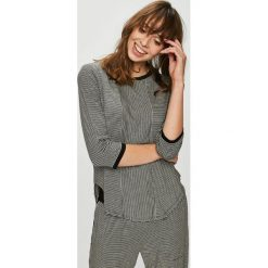 Dkny - Bluzka piżamowa. Szare koszule nocne damskie DKNY, z dzianiny. W wyprzedaży za 189.90 zł.