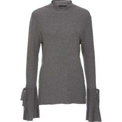 Sweter z rozkloszowanymi rękawami bonprix szary. Swetry damskie marki KALENJI. Za 69.99 zł.