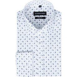 Koszula SIMONE KDBR000249. Białe koszule męskie Giacomo Conti, z bawełny, z włoskim kołnierzykiem. Za 169.00 zł.