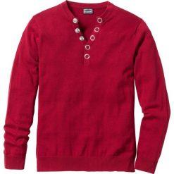 """Sweter """"Slim fit"""" bonprix ciemnoczerwony. Swetry przez głowę męskie marki Giacomo Conti. Za 89.99 zł."""
