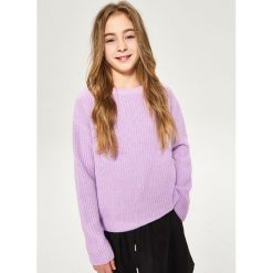 Sweter ze sznurowaniem na plecach - Fioletowy. Swetry dla dziewczynek Reserved, z dekoltem na plecach. W wyprzedaży za 19.99 zł.