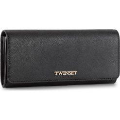 Duży Portfel Damski TWINSET - Portafoglio AS8PGT Nero 00006. Czarne portfele damskie Twinset, ze skóry. W wyprzedaży za 369.00 zł.