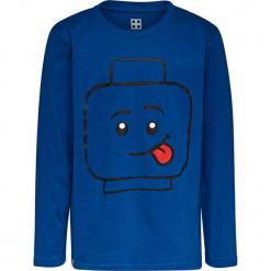 Koszulka w kolorze niebieskim. Niebieskie t-shirty dla chłopców marki Lego Wear Fashion, z nadrukiem, z bawełny, z długim rękawem. W wyprzedaży za 35.95 zł.