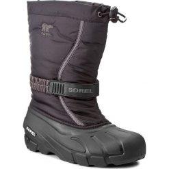 Śniegowce SOREL - Youth Flurry NY1885 Black/City Grey 016. Buty zimowe chłopięce Sorel, z gumy. W wyprzedaży za 189.00 zł.