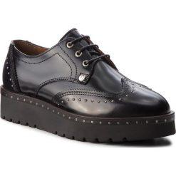 Oxfordy TRUSSARDI JEANS - 79A00292 K299. Czarne półbuty damskie TRUSSARDI JEANS, z jeansu. Za 679.00 zł.