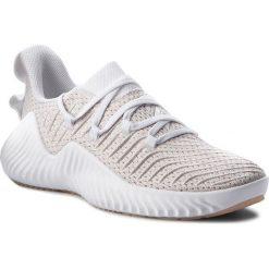 Buty adidas - Alphabounce Trainer W B75780 Ftwwht/Ftwwht/Ashpea. Szare obuwie sportowe damskie Adidas, z materiału. W wyprzedaży za 299.00 zł.