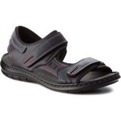 Sandały LANETTI - MSA426-1 Granatowy. Niebieskie sandały męskie Lanetti, z materiału. Za 89.99 zł.