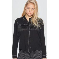 Koszula z frędzlami - Czarny. Koszule damskie marki SOLOGNAC. W wyprzedaży za 39.99 zł.