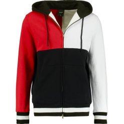 HUF VELLI HOODIE Bluza rozpinana red/black/white. Bluzy męskie HUF, z bawełny. Za 399.00 zł.