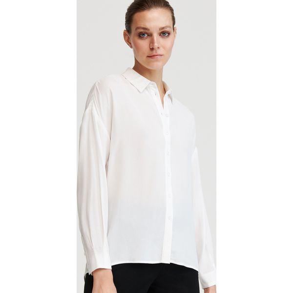 Wiskozowa koszula Biały Białe koszule damskie Reserved  xHjMK