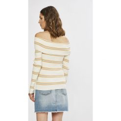 Tommy Jeans - Sweter. Szare swetry damskie Tommy Jeans, z bawełny. W wyprzedaży za 319.90 zł.