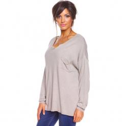 """Sweter """"Coco"""" w kolorze szarobrązowym. Brązowe swetry damskie So Cachemire, z kaszmiru. W wyprzedaży za 165.95 zł."""