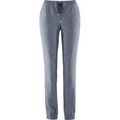 Spodnie z gumką w talii bonprix szary melanż. Szare spodnie sportowe damskie bonprix, melanż. Za 37.99 zł.
