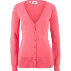 Sweter rozpinany bonprix jasnoróżowy. Kardigany damskie marki bonprix. Za 59.99 zł.