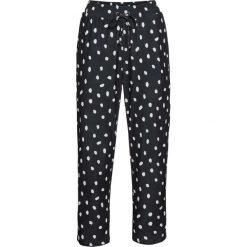 Spodnie bonprix czarno-biały w kropki. Spodnie materiałowe damskie marki DOMYOS. Za 79.99 zł.
