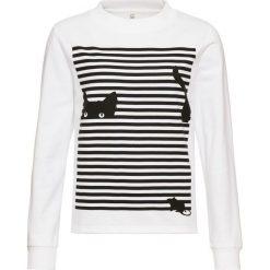 Bluza z nadrukiem bonprix biało-czarny z nadrukiem. Bluzy damskie marki KALENJI. Za 37.99 zł.
