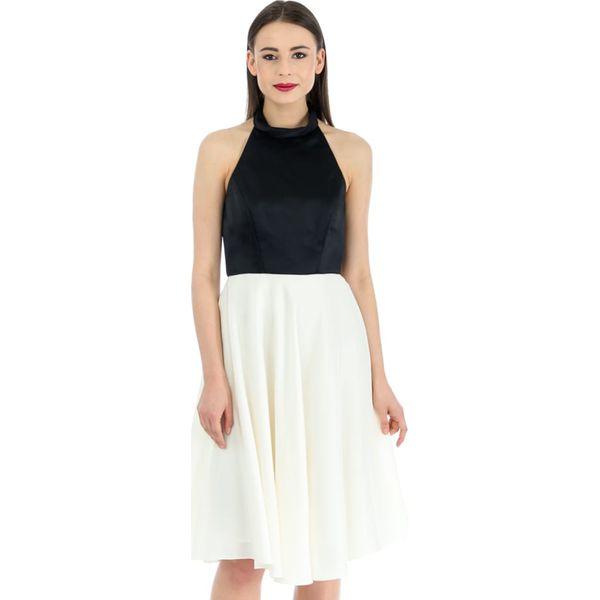 294a02c031 Sukienka w kolorze kremowo-czarnym - Sukienki damskie marki Deni ...