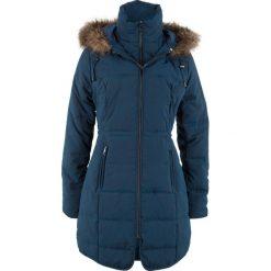 Krótki płaszcz z kapturem bonprix ciemnoniebieski. Płaszcze damskie marki FOUGANZA. Za 239.99 zł.