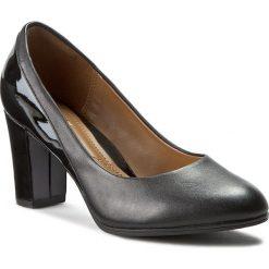 Półbuty CLARKS - Basil Auburn 261026705 Black Combi Lea. Czarne półbuty damskie Clarks, ze skóry ekologicznej, eleganckie. W wyprzedaży za 199.00 zł.
