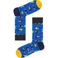 Happy Socks - Skarpety Bird. Niebieskie skarpety męskie Happy Socks, z bawełny. Za 39.90 zł.