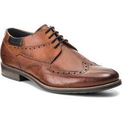 Półbuty BUGATTI - 311-16305-2500-6300 Cognac. Brązowe eleganckie półbuty Bugatti, z materiału. Za 349.00 zł.