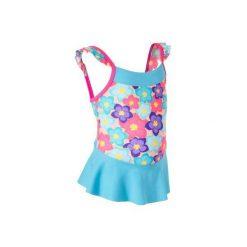 Strój 1cz Kwiaty Baby. Niebieskie stroje kąpielowe dla dziewczynek NABAIJI, w kwiaty. Za 39.99 zł.