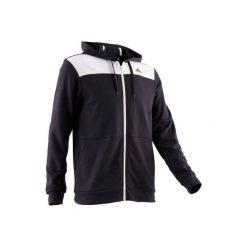 Bluza na zamek z kapturem Gym & Pilates 500 męska. Czarne bluzy męskie Adidas. Za 169.99 zł.
