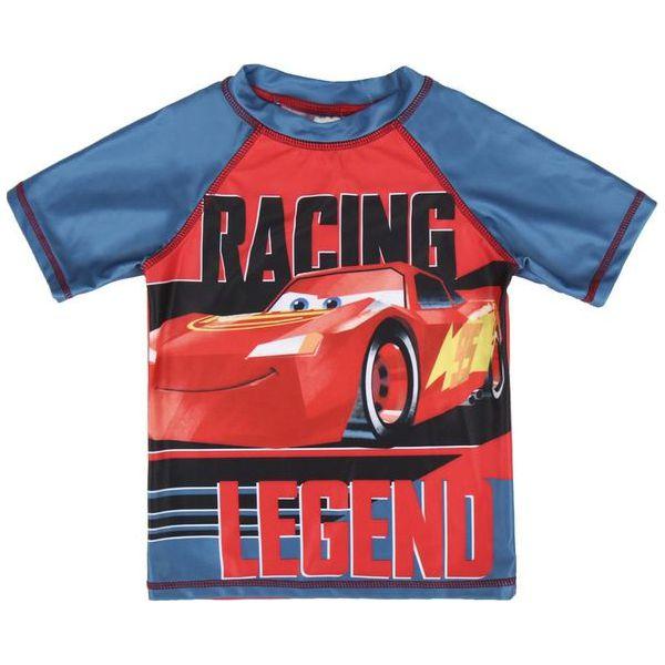 68d5d3e22b3517 Disney Bluzka Chłopięca Pływacka Cars 116 Czerwony/Niebieski ...