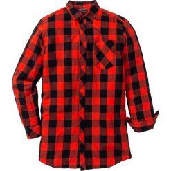 Długa koszula z długim rękawem Regular Fit bonprix czarno-czerwony w kratę. Koszule męskie marki Giacomo Conti. Za 59.99 zł.