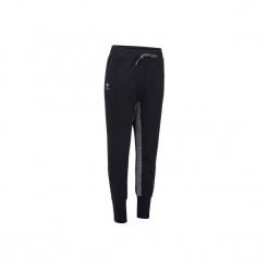 Spodnie tenisowe Warm 500 damskie. Czarne spodnie materiałowe damskie ARTENGO, z elastanu. Za 59.99 zł.