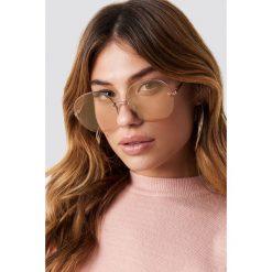 Le Specs Okulary przeciwsłoneczne Say My Name - Gold. Brązowe okulary przeciwsłoneczne damskie Le Specs. Za 283.95 zł.