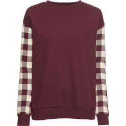Bluza dresowa bonprix czerwony klonowy - naturalny w kratę. Bluzy damskie marki KALENJI. Za 59.99 zł.