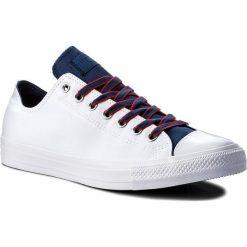 Trampki CONVERSE - Ctas Ox 160467C White/Navy/Gym Red. Białe trampki męskie Converse, z gumy. W wyprzedaży za 179.00 zł.