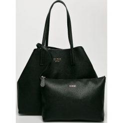 Guess Jeans - Torebka Vikky. Czarne torby na ramię damskie Guess Jeans. Za 629.90 zł.